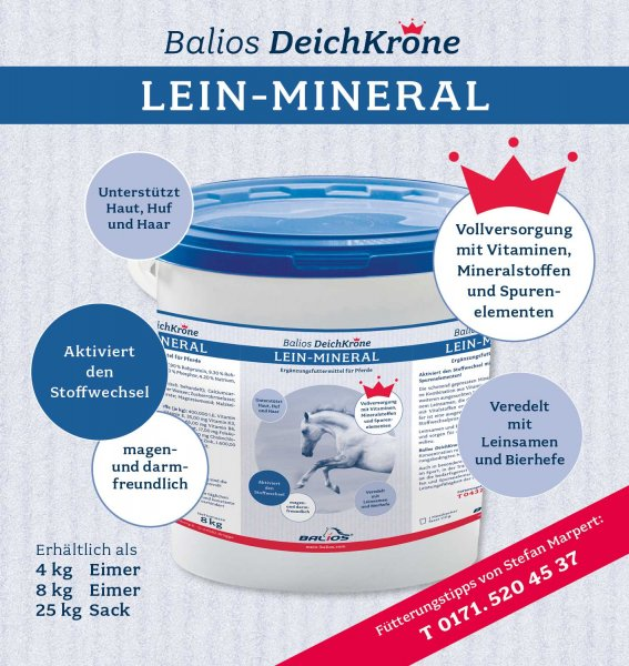 Balios Deichkrone Lein-Mineral für Pferde, 4 kg